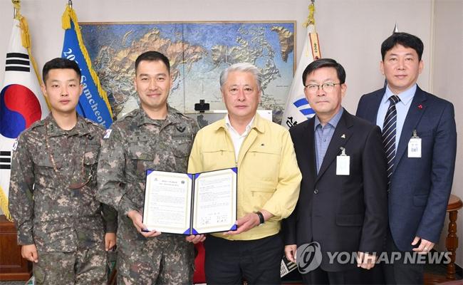 상황 발생 시 드론 지원…삼척시-군부대, 업무협약