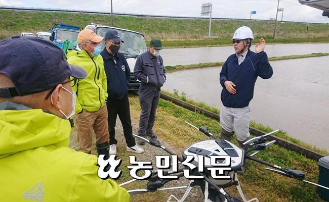 日 '볍씨 드론 직파' 인기…정밀 파종 관건
