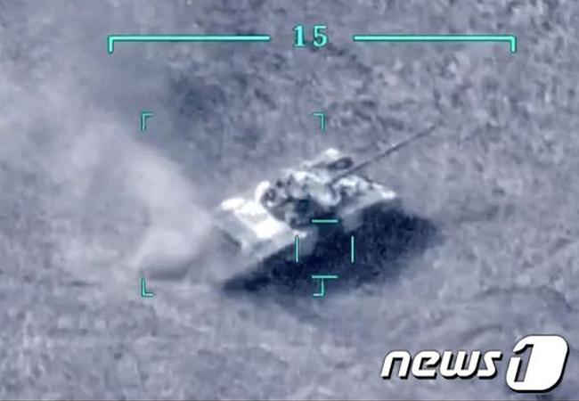 터키 드론 공격에 T-72 전차 박살…아제르-아르메 분쟁 격화